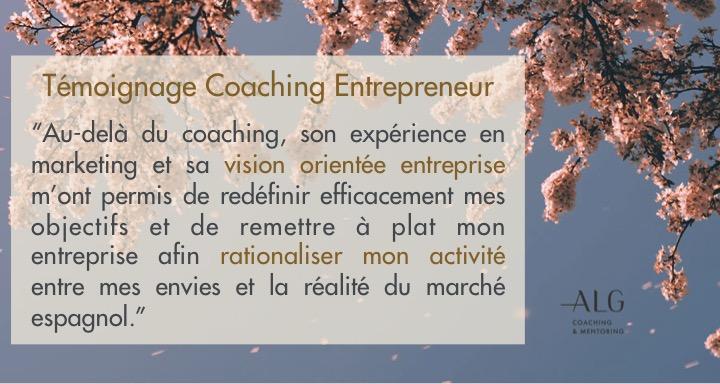 Témoignage coaching entrepreneur